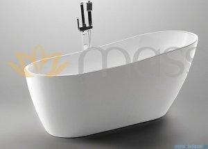 Massi Bellis 150 wanna wolnostojąca 150x70cm biała + syfon MSWA-6522