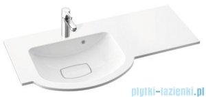 Marmorin Emma 900 umywalka nablatowa 90x45 z przelewem bez otworu na baterie lewa biała 639090720210