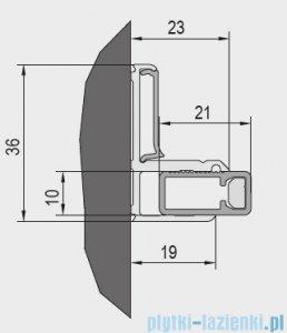 SanSwiss Cadura White Line zestaw montażowy do wnęki V2.CA.09