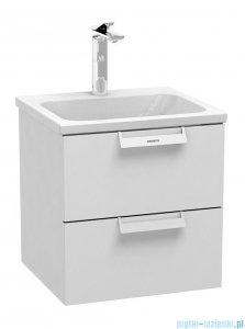 Oristo Base szafka z umywalką 49x50x45cm biały połysk OR48-SD2S-50-1/UME-BA-50-91