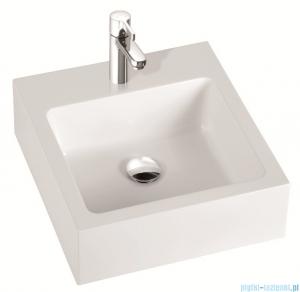 Marmorin umywalka nablatowa Ceti 45cm bez otworu biała 180045020010