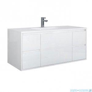 Oristo Opera szafka z umywalką 120x50x45cm biały połysk OR35-SD5S-120-1/UME-AL-120-92