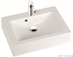 Marmorin umywalka nablatowa Ceto 60cm bez otworu biała 170060022010