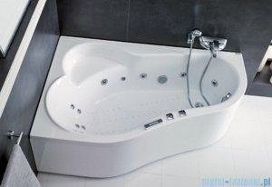 Poolspa Wanna asymetryczna LEDA 160x100 lewa + hydromasaż Smart 1 PHAH410ST1C0000