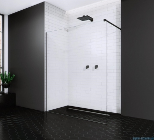 Radaway Modo New Black II kabina Walk-in 90x200 szkło przejrzyste 389094-54-01