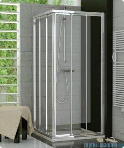 SanSwiss Top-Line TOE3 Wejście narożne 3-częściowe 70cm profil srebrny Lewe TOE3G07000107