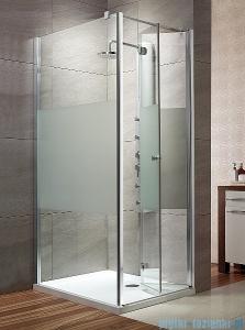 Radaway Eos KDJ-B kabina prysznicowa 80x80 prawa szkło przejrzyste + brodzik Delos C + syfon 37413-01-01NR