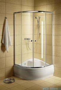 Radaway Classic A Kabina prysznicowa półokrągła z drzwiami przesuwnymi 90x90x170 szkło grafitowe profile białe 30001-04-05