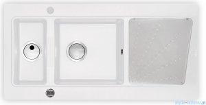 Deante Modern Zlewozmywak 1,5-komorowy z ociekaczem, kolor alabaster ZQM A513