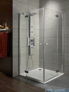 Radaway Kabina prysznicowa Almatea Kdd 100x90 szkło grafitowe + brodzik Doros D + syfon 32182-01-05N