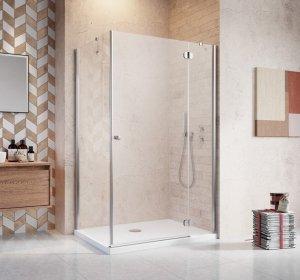 Radaway Kabina prysznicowa Torrenta Kdj 90x80 prawa szkło przejrzyste + brodzik Doros D + syfon 32249-01-01NR