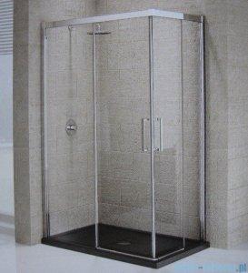 Novellini Elysium Kuadra A Ścianka prysznicowa 84cm lewa szkło przejrzyste profil chrom KUADA84LS-1K