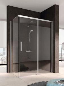 Kermi Nica Ściana boczna lewa, szkło przezroczyste, profile srebrne 75cm NITWL07520VPK