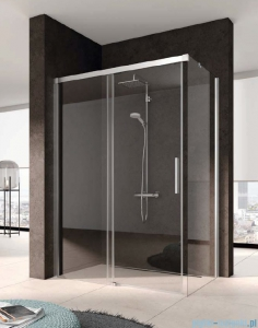 Kermi Nica Ściana boczna prawa, szkło przezroczyste, profile srebrne 80cm NITWR08020VPK