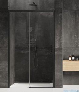 New Trendy Prime Black drzwi wnękowe pojedyncze 120x200 cm lewe przejrzyste D-0320A
