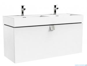 Oristo Bold szafka z umywalką 120x50x45 biały połysk OR46-SD1S-120-1-SW/UME-BD-120-91-D