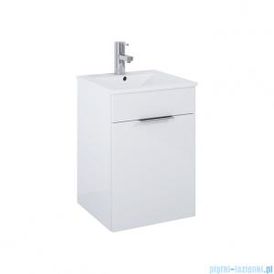 Elita Qubo Plus Set szafka z umywalką komplet 41x59x41cm biały połysk 166483