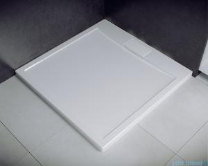 Besco Axim ultraslim 90x90cm brodzik kwadratowy biały BAX-90-KW