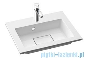 Marmorin Lira 500 umywalka nablatowa 50x39 bez przelewu i bez otworu na baterie biała 640050020010
