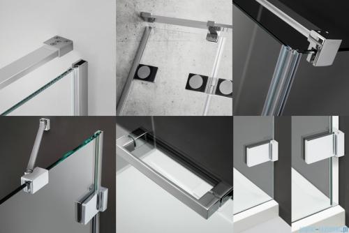 Radaway Euphoria KDJ Kabina prysznicowa 90x90 lewa szkło przejrzyste detale