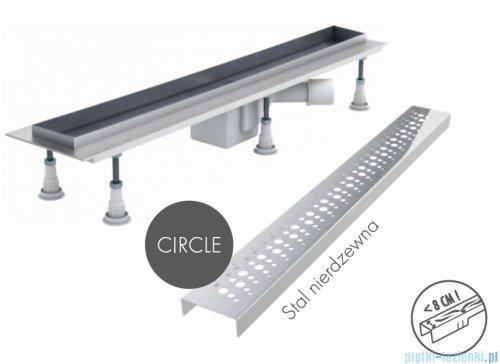 Schedpol odpływ liniowy z maskownicą Circle 70x8x9,5cm OLCE70/ST
