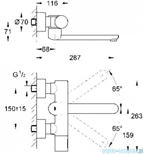 Grohe Eurosmart Cosmopolitan E elektronika na podczerwień do umywalki z termostatem 1/2  36332000
