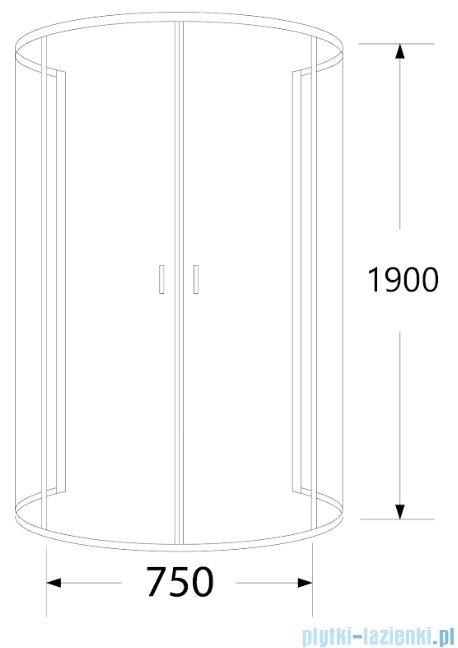 Sea Horse Stylio kabina przyścienna 80x100x190 cm przejrzyste BK501XT+