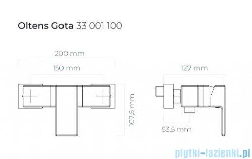 Oltens Gota bateria prysznicowa ścienna chrom 33001100