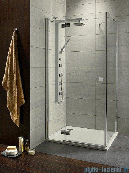 Radaway Kabina prysznicowa Almatea Kdj 90x80 lewa szkło przejrzyste + brodzik Doros D