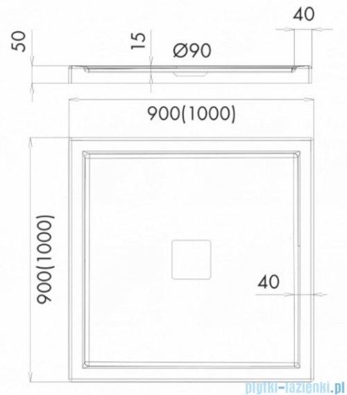 Schedpol Schedline Erida brodzik kwadratowy 100x100x5cm 3SP.E4K-100100