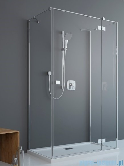 Radaway Essenza New Kdj+S kabina 100x100x100cm prawa szkło przejrzyste + brodzik Doros C + syfon