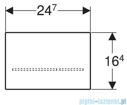 Geberit Sigma80 Elektroniczny zestaw uruchamiający WC szkło czarne 116.090.SG.1