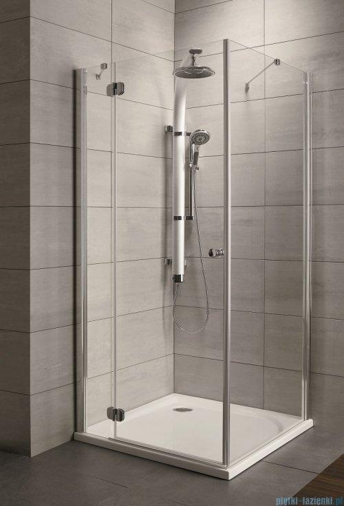 Radaway Torrenta Kdj Kabina prysznicowa 80x100 lewa szkło przejrzyste + brodzik Doros D + syfon