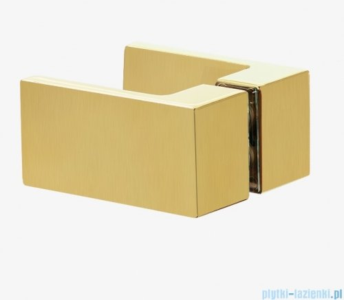 New Trendy Avexa Gold kabina prostokątna 100x90x200 cm przejrzyste EXK-1785