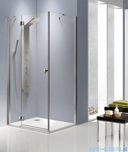 Radaway Kabina prysznicowa Essenza KDJ 90x80 lewa szkło przejrzyste + brodzik Doros D + syfon