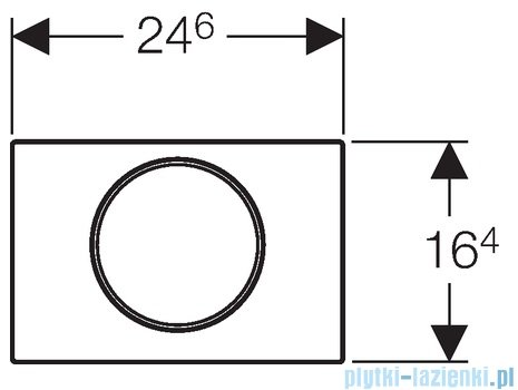 Geberit Sigma10 przycisk spłukujący stal nierdzewna/stal nierdzewna/stal nierdzewna 115.758.SN.5