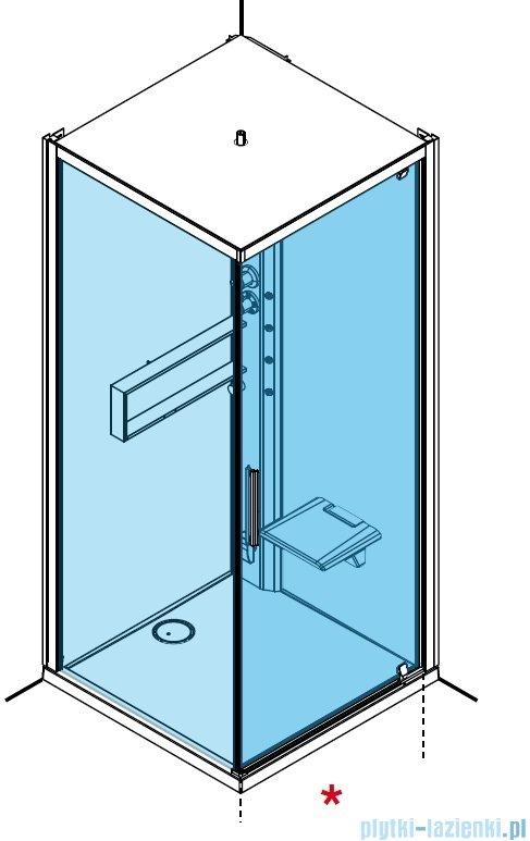 Novellini Glax 2 2.0 kabina z hydromasażem 90x90 prawa total biała G22GF99DM1-1UU