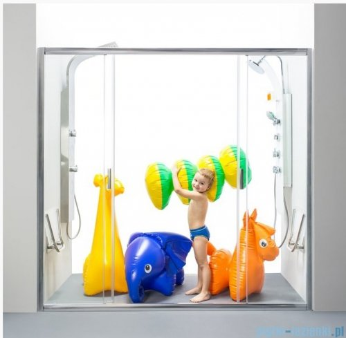Ravak Blix BLDP4 drzwi prysznicowe 120cm satyna transparent Anticalc 0YVG0U00Z1