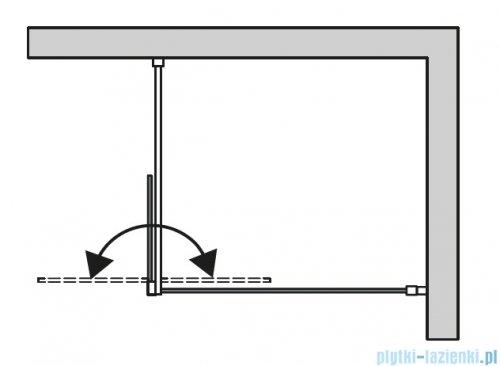 SanSwiss Cadura Gold Line kabina Walk in 100cm lewa ze ścianką ruchomą  CADUOG1001207