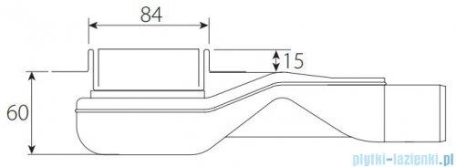 Wiper New Premium Mistral Odpływ liniowy z kołnierzem 80 cm szlif 100.1970.02.080