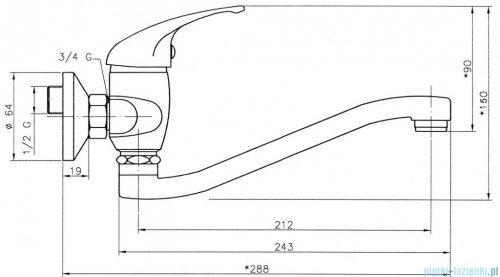 Ferro Titania Iris Bateria umywalkowo/zlewozmywakowa ścienna 92070.0