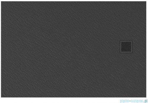 New Trendy Mori brodzik prostokątny z konglomeratu 100x90x3 cm szary