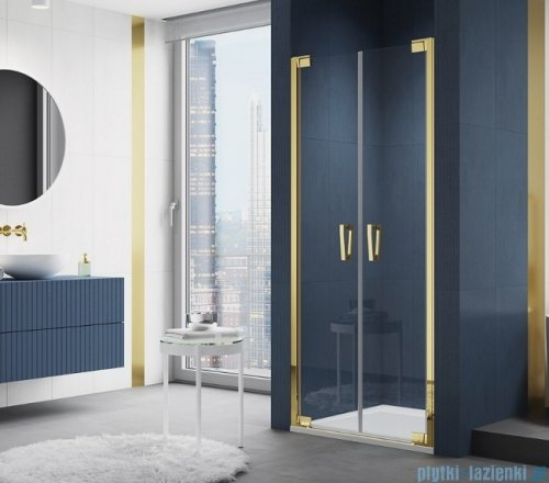 SanSwiss Cadura Gold Line drzwi wahadłowe 80cm dwuczęściowe  CA2C0801207