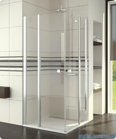 SanSwiss Swing Line SLE2 Wejście narożne 100cm profil srebrny Prawe SLE2D10000107