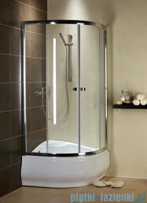 Radaway Premium A Kabina półokrągła 80x80x170 szkło fabric