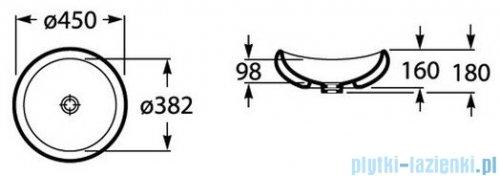 Roca Urbi 1 Umywalka nablatowa 45cm biała A327225000