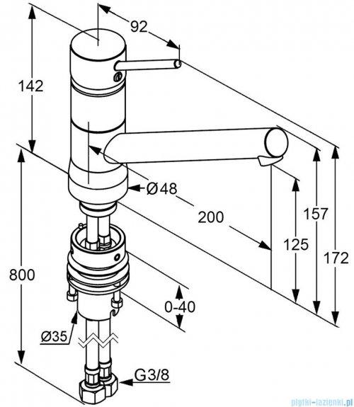 Kludi Scope Jednouchwytowa bateria kuchenna Bajonett DN 10 chrom 339380575