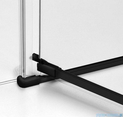 New Trendy Avexa Black drzwi wnękowe 80x200 cm przejrzyste lewa EXK-1546