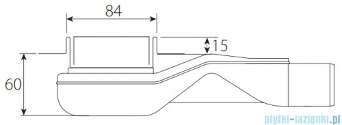 Wiper New Premium Pure Odpływ liniowy z kołnierzem 100 cm poler 100.1973.01.100