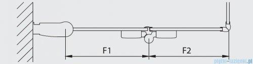 Kermi Diga Wejście narożne,połowa kabiny, lewa, szkło przezroczyste, profile białe 70x200cm DI2CL070202AK